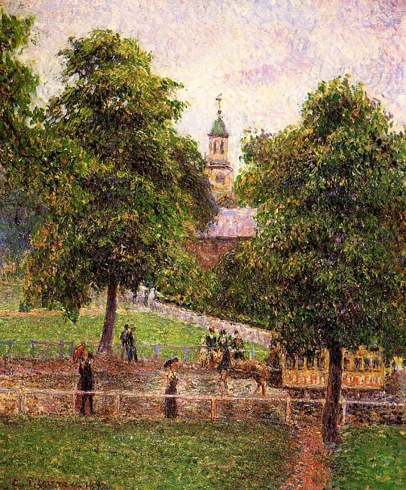 Church at Kew. (1892). Camille Pissarro