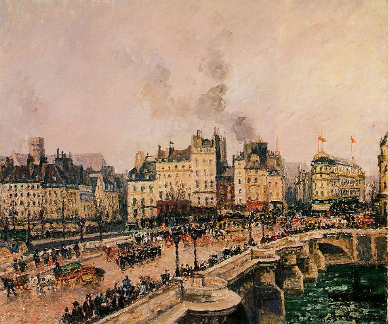The Pont-Neuf 2. (1902). Camille Pissarro