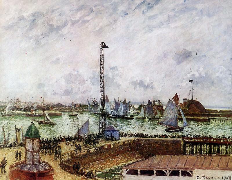 The pilots jetty, Le Havre. Camille Pissarro