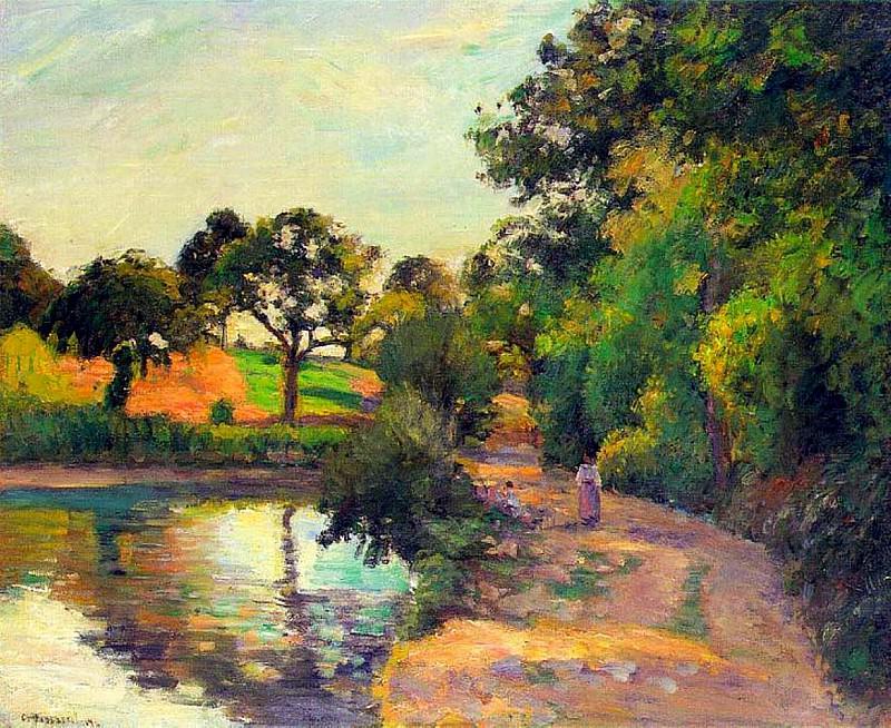 Bridge at Montfoucault. (1874). Camille Pissarro