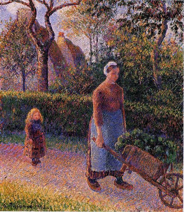 Женщина с тачкой (1892). Камиль Писсарро