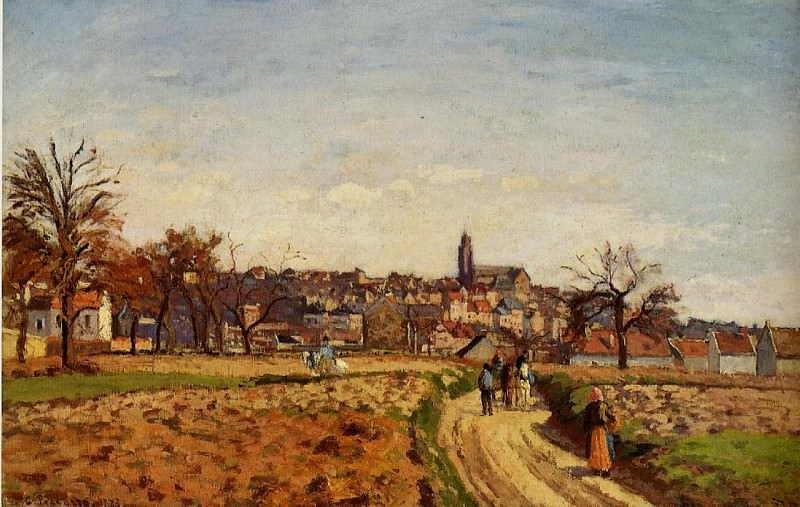 View of Pontoise. (1873). Camille Pissarro