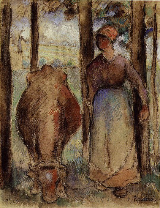 The Cowherd. (1892). Camille Pissarro