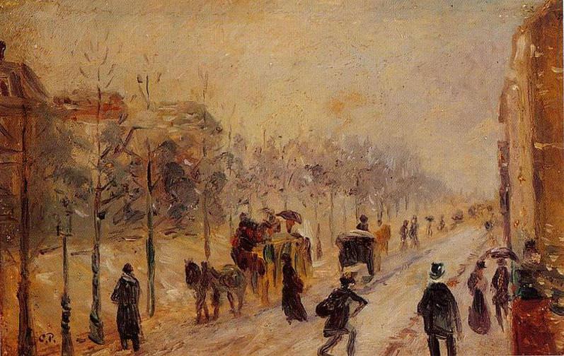Boulevard des Batignolles. (1878-79). Camille Pissarro