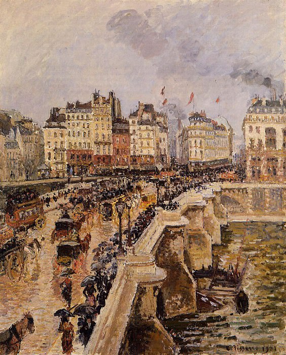 The Pont-Neuf - Rainy Afternoon. (1901). Camille Pissarro