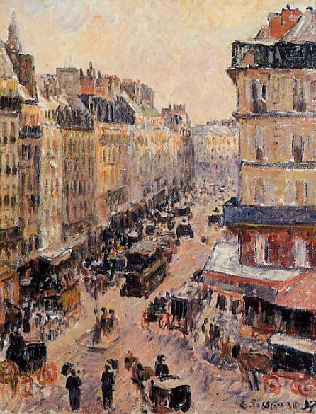 Улица Сен-Лазар (1897). Камиль Писсарро