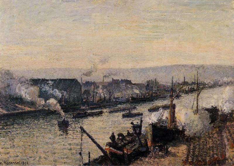 Руанский порт, Сен-Север (1896). Камиль Писсарро