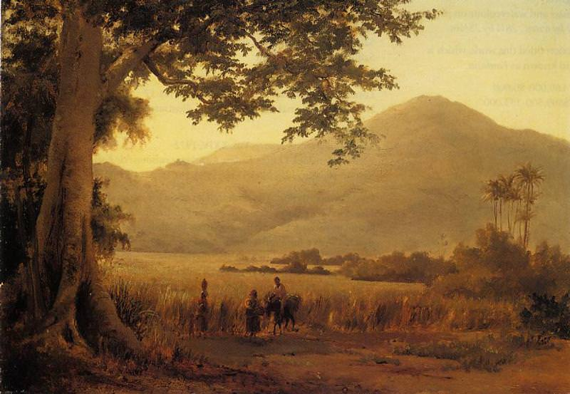 Antilian Landscape, St. Thomas. (1856). Camille Pissarro