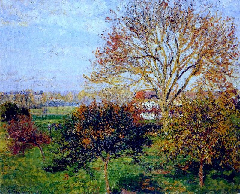 Autumn Morning at Eragny. (1897). Camille Pissarro
