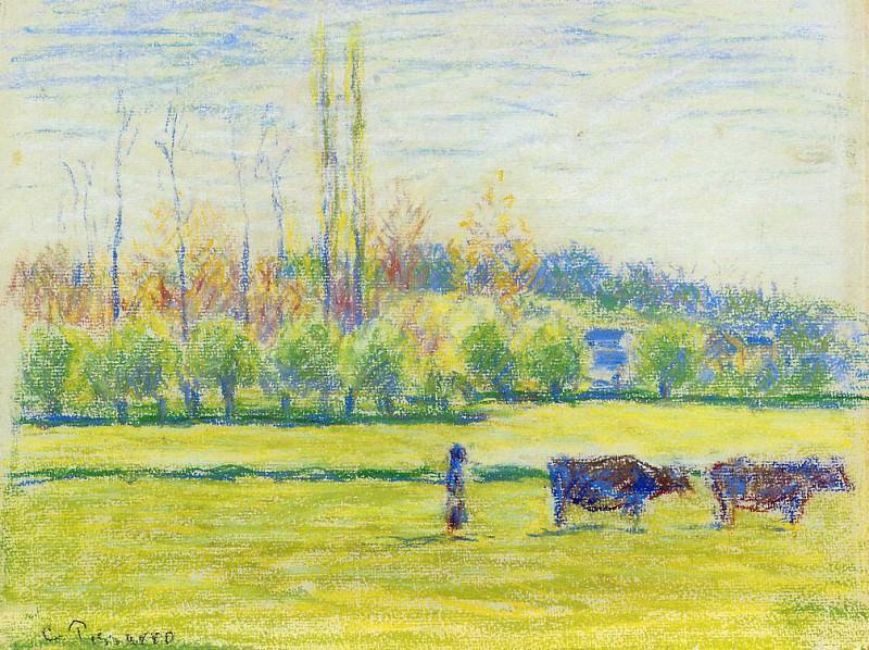 Near Eragny. (1887). Camille Pissarro
