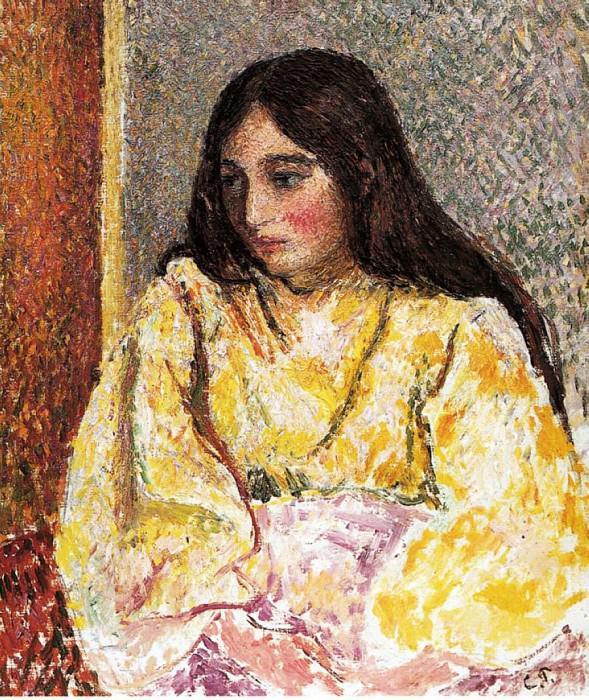 Portrait of Jeanne. (1893). Camille Pissarro
