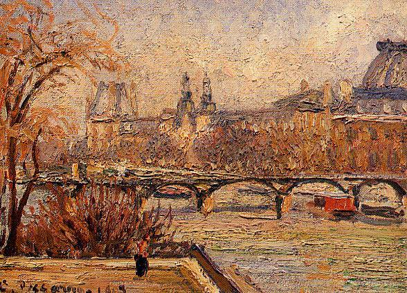 The Louvre - Morning. (1903). Camille Pissarro