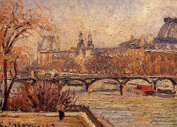 Лувр - утро. (1903). Камиль Писсарро