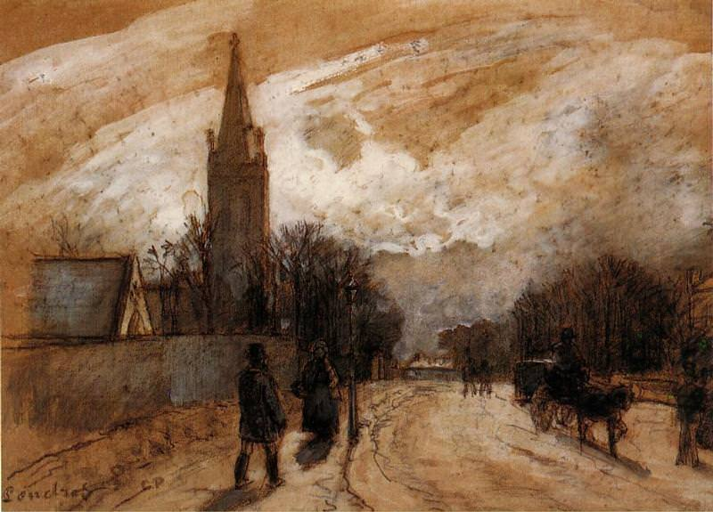 Study for All Saints Church, Upper Norwood. (1871). Camille Pissarro