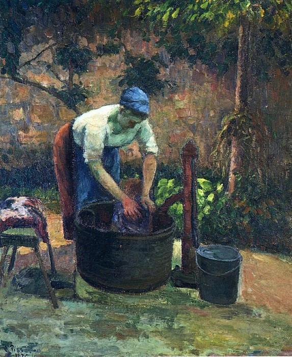 Прачка (1875). Камиль Писсарро