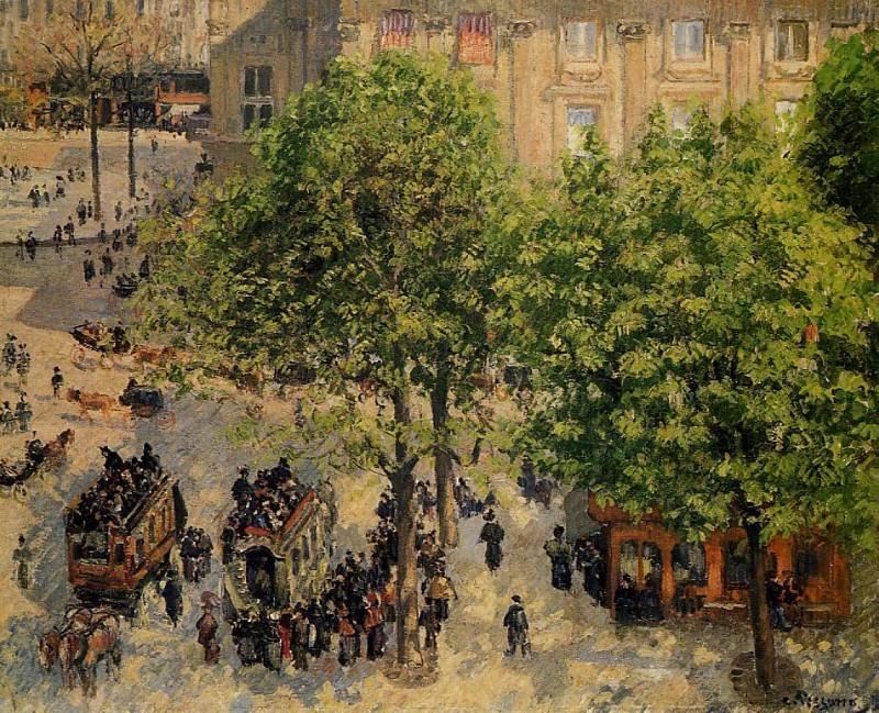 Place du Theatre Francais - Spring. (1898). Camille Pissarro
