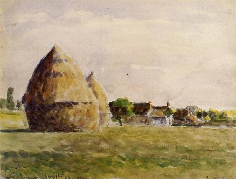 Twilight, Eragny. (1889). Camille Pissarro