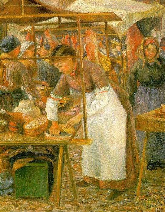 The Pork Butcher, 1883, Tate Gallery, London.. Camille Pissarro