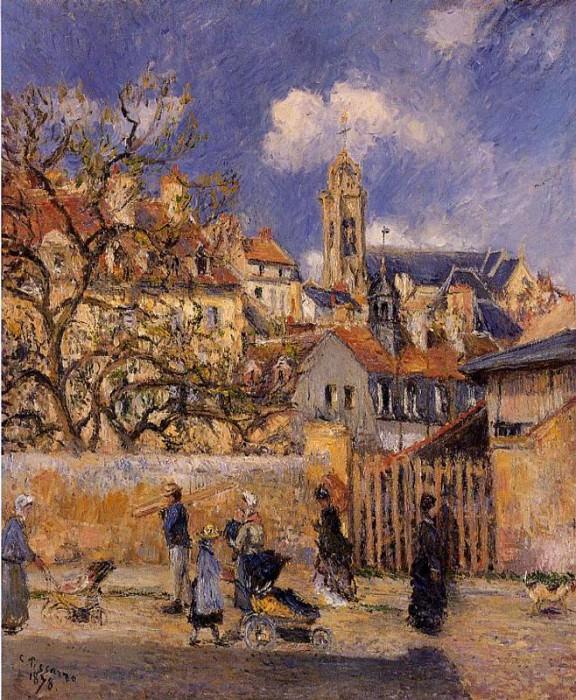 Le Parc aux Charrettes, Pontoise. (1878). Camille Pissarro