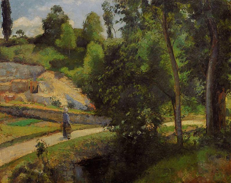 The Quarry, Pontoise. (1875). Camille Pissarro