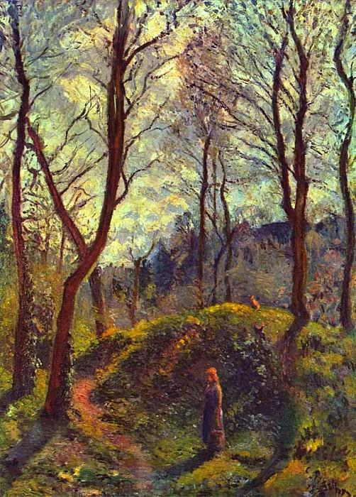 Landscape with Big Trees. Camille Pissarro