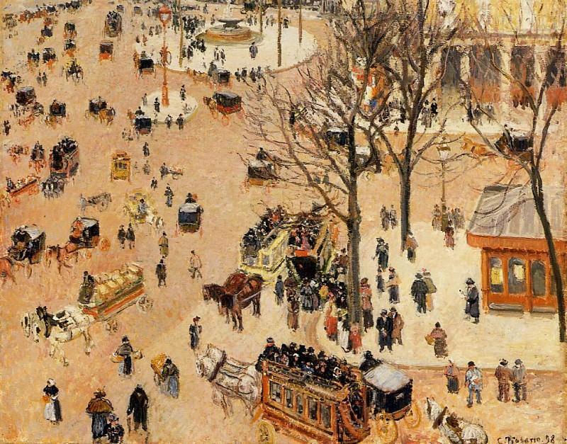 Place du Theatre Francais. (1898). Camille Pissarro