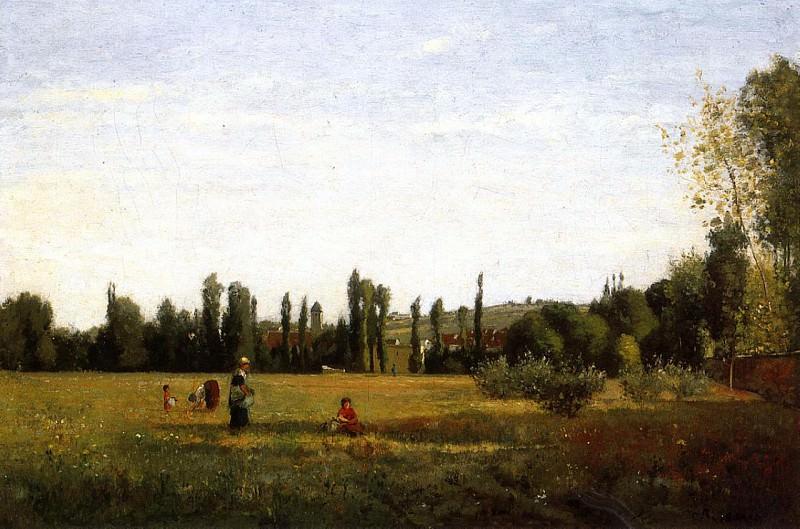 La Varenne-Saint-Hilaire, View from Champigny. (1863). Camille Pissarro