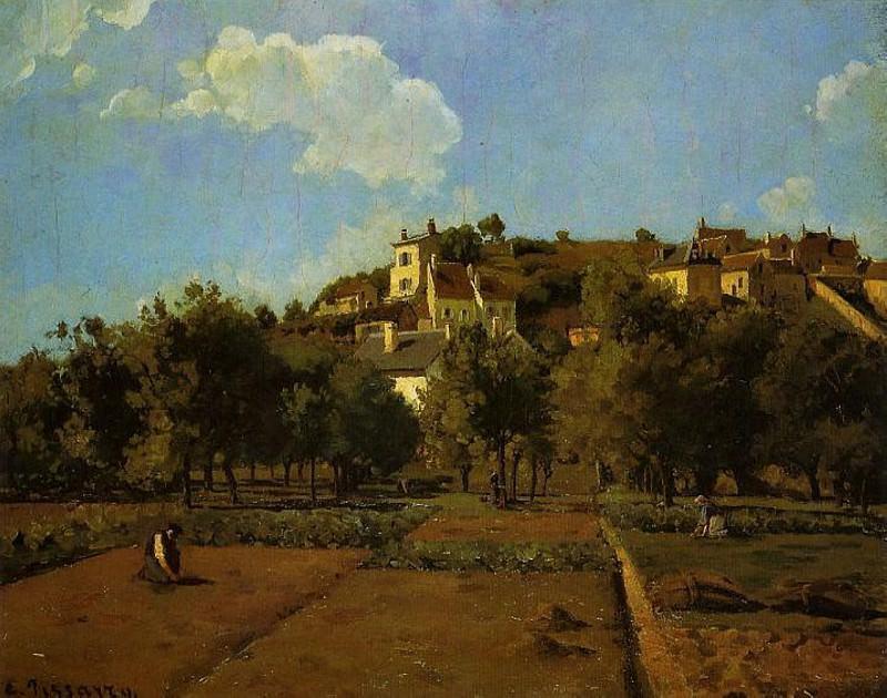 The Gardens of lHermitage, Pontoise. (1867). Camille Pissarro