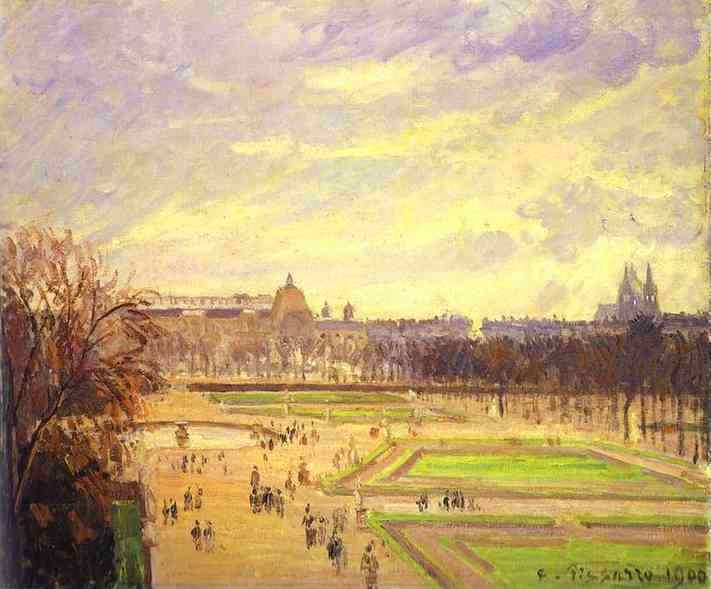 Сады Тюильри (1900). Камиль Писсарро