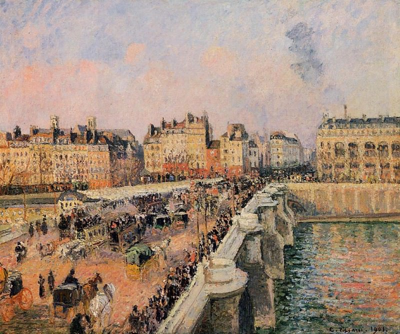 The Pont-Neuf - Afternoon Sun. (1901). Camille Pissarro