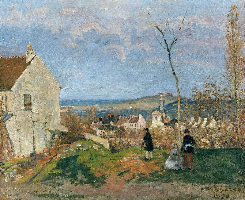 Louveciennes with Mont Valerien in the background. Camille Pissarro