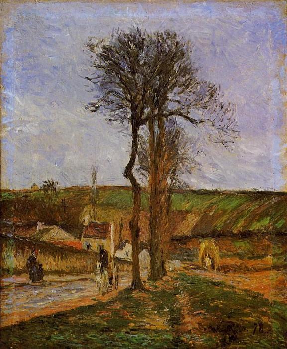 Неподалеку от Понтуаза (1879). Камиль Писсарро