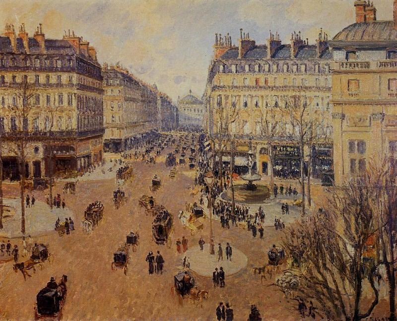 Place du Theatre Francais - Afternoon Sun in Winter. (1898). Camille Pissarro