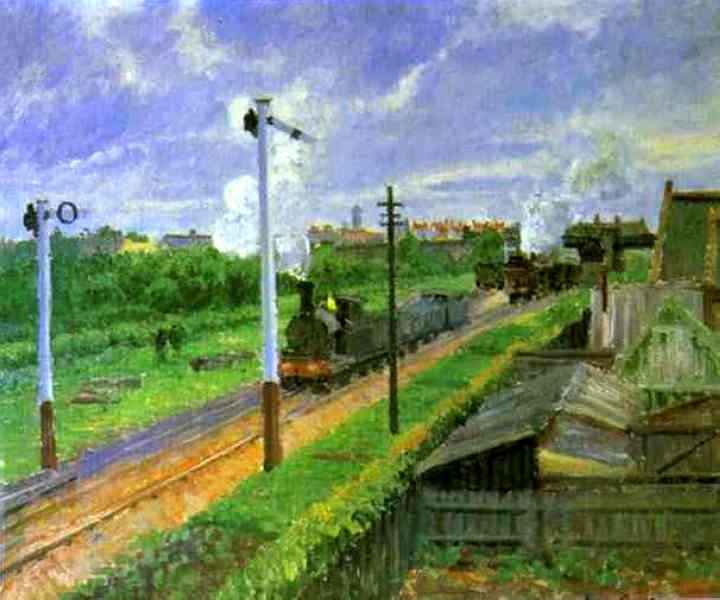 The Train, Bedford Park. (1897). Camille Pissarro