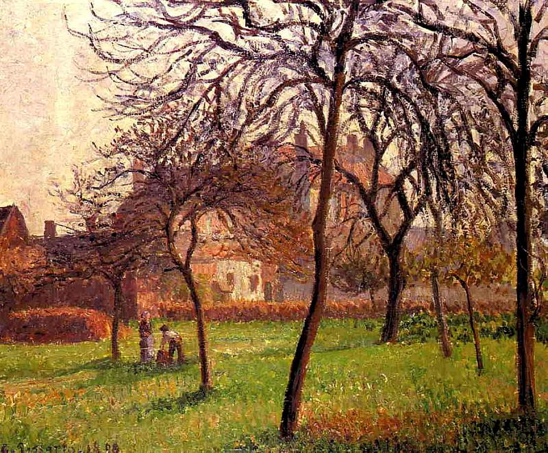 Mother Luciens Field at Eragny. (1898). Camille Pissarro