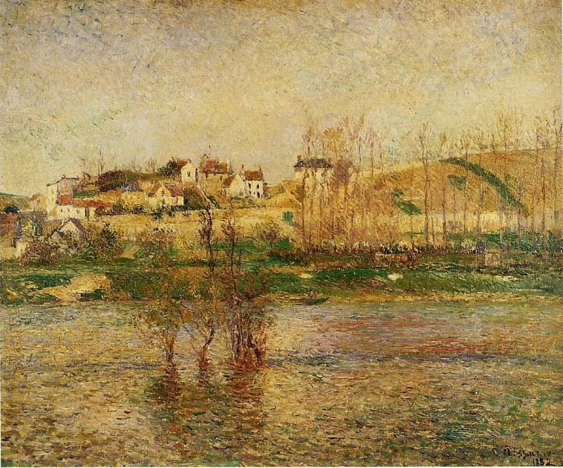 Flood in Pontoise. (1882). Camille Pissarro