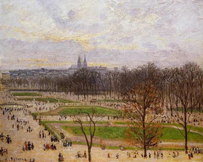 The Tuilleries Gardens - Winter Afternoon. (1899). Camille Pissarro