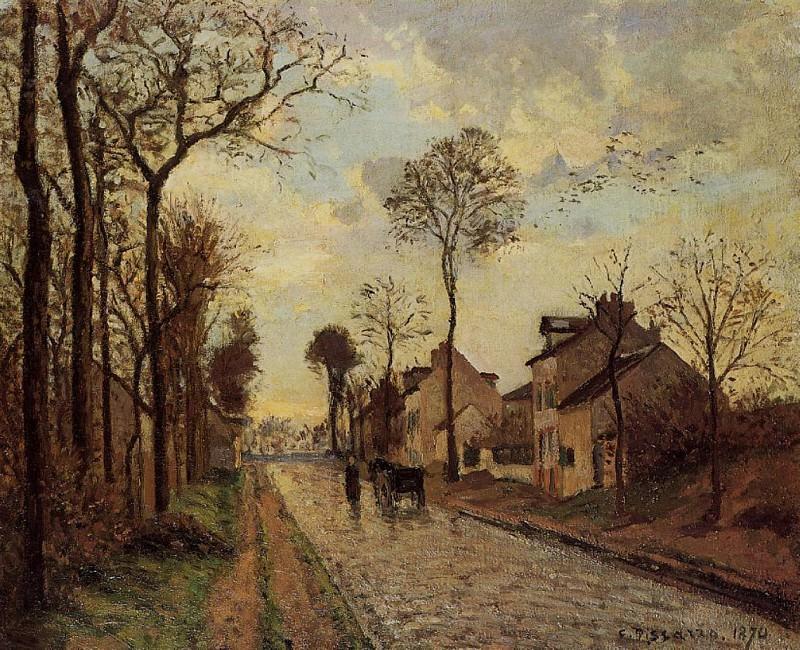 Дорога в Лувесьене (1870). Камиль Писсарро