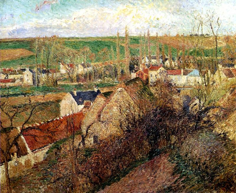Вид Осни недалеко от Понтуаза (1883). Камиль Писсарро