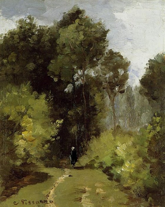 In the Woods. (1864). Camille Pissarro