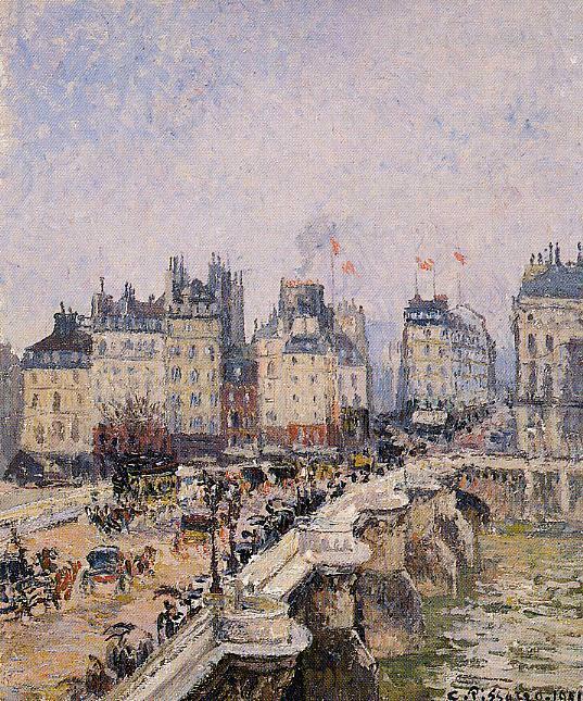 Мост Пон-Нёф 1901. Камиль Писсарро