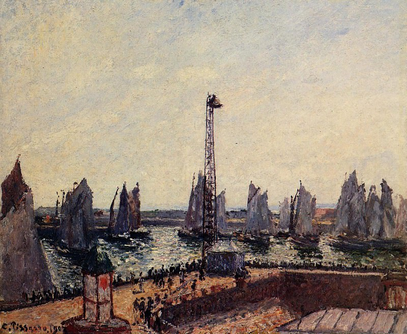 The Inner Port and Pilots Jetty, Le Havre. (1903). Camille Pissarro
