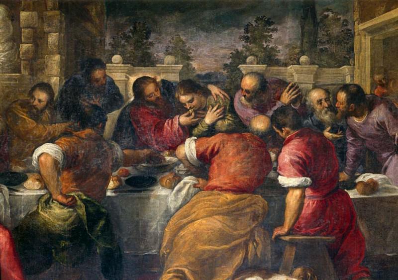 The Last Supper. Palma il Giovane (Jacopo Negretti)
