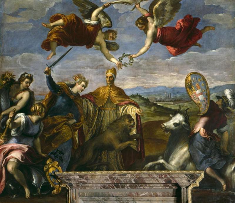 Allegory of the League of Cambrai. Palma il Giovane (Jacopo Negretti)