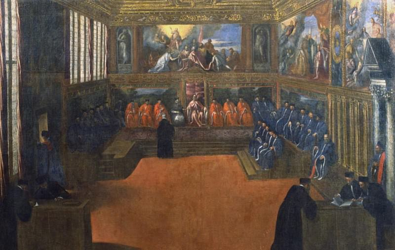 The Doge of Venice visits the Holy See. Palma il Giovane (Jacopo Negretti)