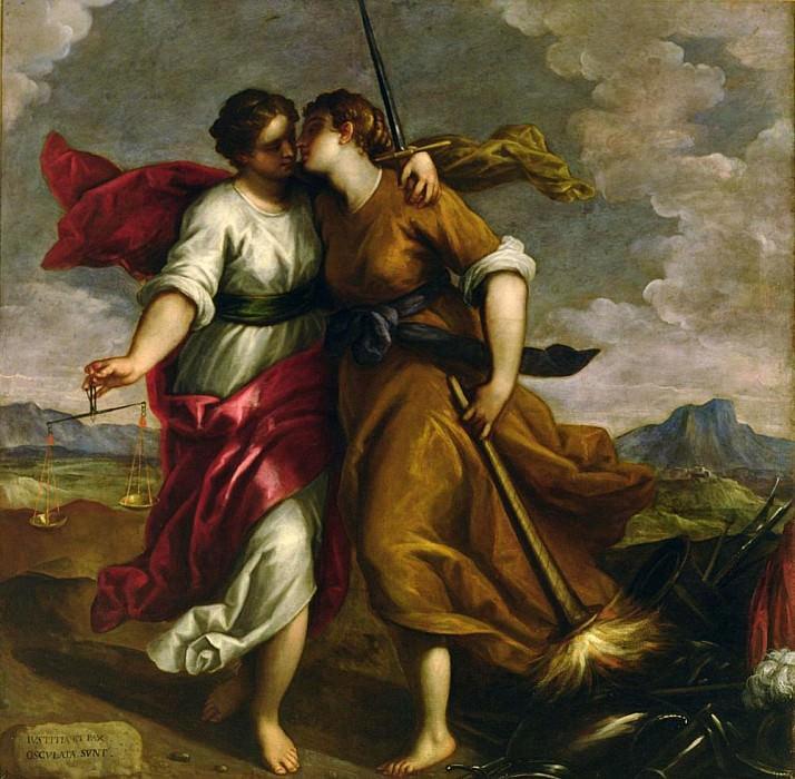 Justice and Peace. Palma il Giovane (Jacopo Negretti)