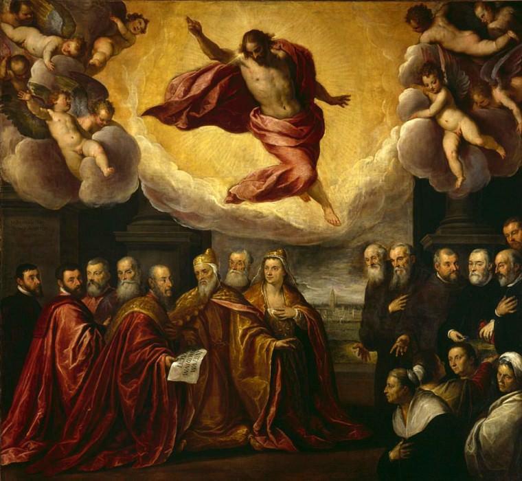 The Doge Renier Zeno and his wife, founders and benefactors of the hospice. Palma il Giovane (Jacopo Negretti)