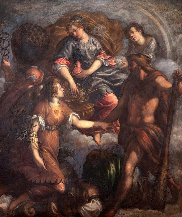 Triumph of Juno (Trionfo di Giunone). Palma il Giovane (Jacopo Negretti)
