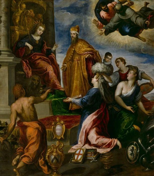 The Doge Francesco Venier presented to Venice. Palma il Giovane (Jacopo Negretti)