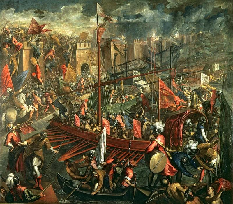 Взятие Константинополя. Джакомо Пальма Младший (Якопо Негретти)